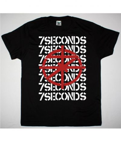 7 SECONDS SCOPE NEW BLACK T SHIRT