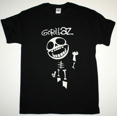 GORILLAZ BONES NEW BLACK T SHIRT