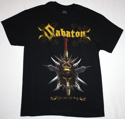 SABATON THE ART OF WAR NEW BLACK T-SHIRT
