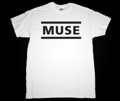 MUSE LOGO NEW WHITE T-SHIRT