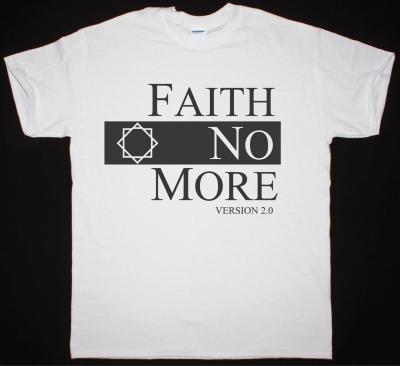 FAITH NO MORE CLASSIC LOGO V2 NEW WHITE T-SHIRT
