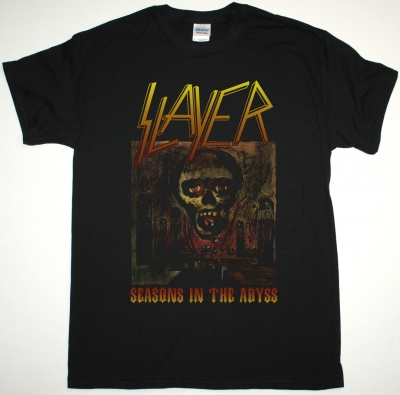 SLAYER SEASONS IN THE ABYSS NEW BLACK T-SHIRT
