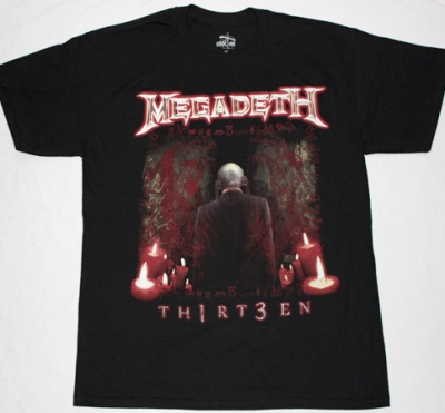 MEGADETH THIRTEEN 2011 NEW BLACK T-SHIRT