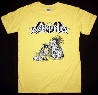 TOXIC HOLOCOST LORD OF THE WASTELAND NEW YELLOW T SHIRT