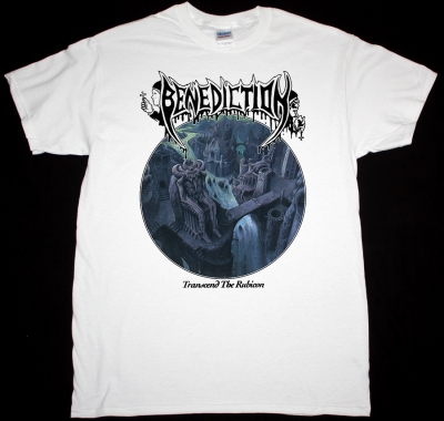 BENEDICTION TRANSCEND THE RUBICON NEW WHITE T-SHIRT