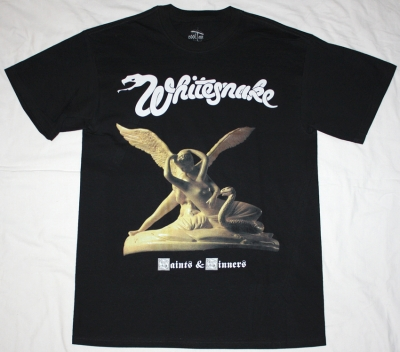 WHITESNAKE SAINTS & SINNERS '82 NEW BLACK T-SHIRT