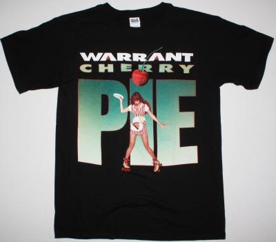 WARRANT CHERRY PIE 1990 NEW BLACK T-SHIRT