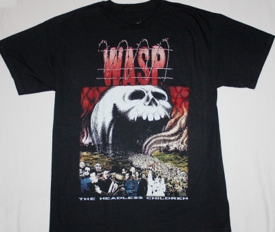 W.A.S.P. THE HEADLESS CHILDREN'89   NEW BLACK T-SHIRT