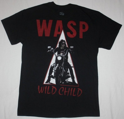 W.A.S.P. WILD CHILD'85  NEW BLACK T-SHIRT