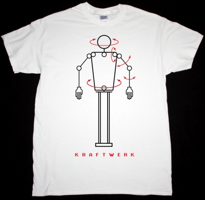 KRAFTWERK ROBOT NEW WHITE T-SHIRT
