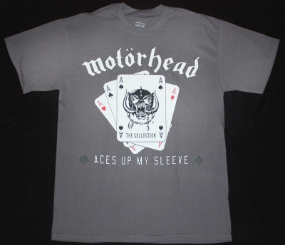 MOTORHEAD ACES UP MY SLEEVE NEW GREY T-SHIRT