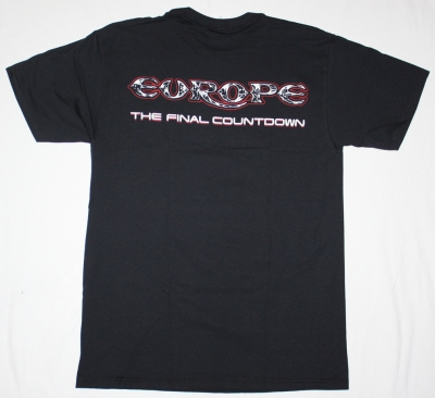 EUROPE THE FINAL COUNTDOWN'86 NEW BLACK T-SHIRT