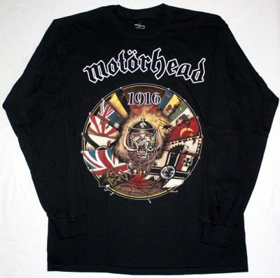MOTORHEAD 1916  S-XXL NEW BLACK LONG SLEEVE T-SHIRT
