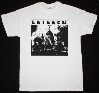 LAIBACH BAND 1985 NEW WHITE T-SHIRT