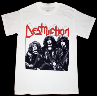DESTRUCTION BAND NEW WHITE T-SHIRT