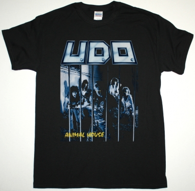 U.D.O. ANIMAL HOUSE NEW BLACK T-SHIRT