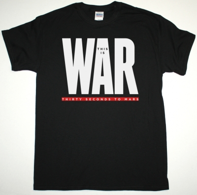 30 SECONDS TO MARS THIS IS WAR NEW BLACK T-SHIRT