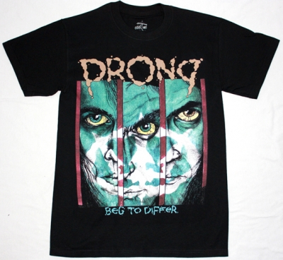 PRONG BEG TO DIFFER'90 NEW BLACK T-SHIRT