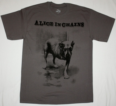 ALICE IN CHAINS DOG NEW GREY T-SHIRT