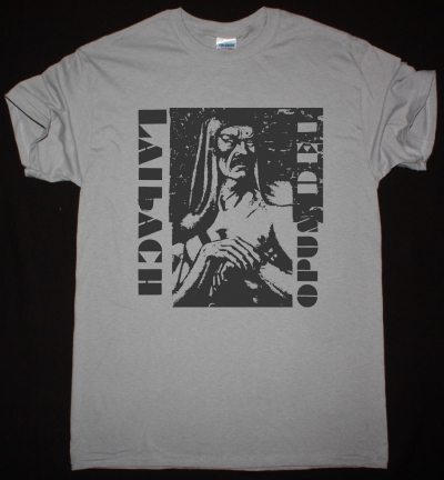 LAIBACH OPUS DEI 1987 NEW LIGHT GREY T-SHIRT