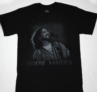 PEARL JAM EDDIE VEDDER NEW BLACK T-SHIRT