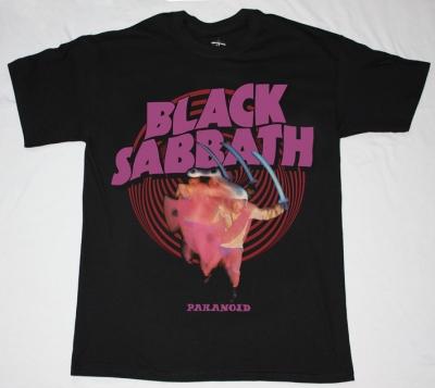 BLACK SABBATH PARANOID'70 NEW BLACK T-SHIRT