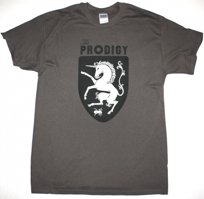 THE PRODIGY MEDIEVAL SHIELD LOGO GREY T-SHIRT
