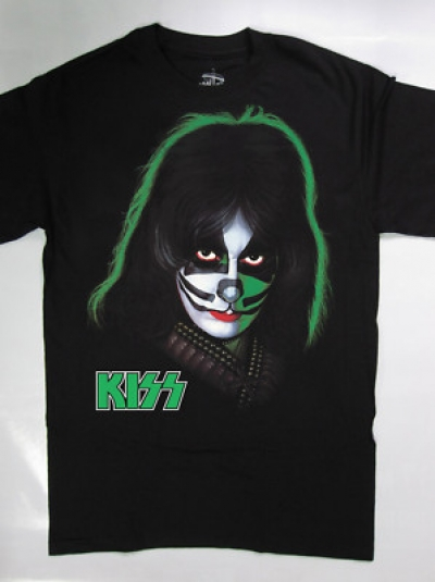 KISS PETER CRISS NEW RARE BLACK T SHIRT S,M,L,XL,2XL