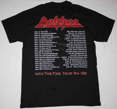 DOKKEN TOOTH AND NAIL NEW BLACK  T-SHIRT