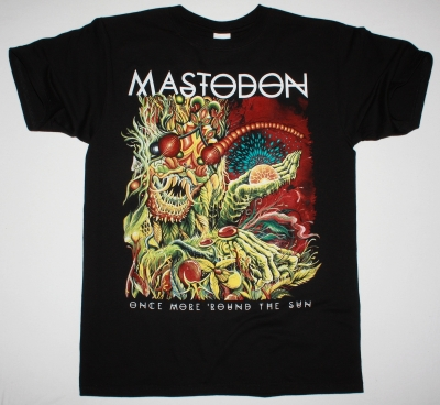 MASTODON ONCE MORE 'ROUND THE SUN TOUR 2014 NEW BLACK T-SHIRT