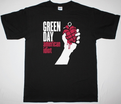 GREEN DAY AMERICAN IDIOT NEW BLACK T-SHIRT