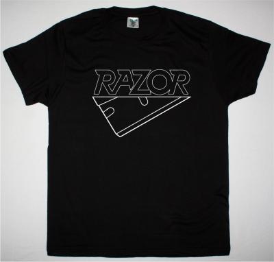 RAZOR LOGO NEW BLACK T SHIRT