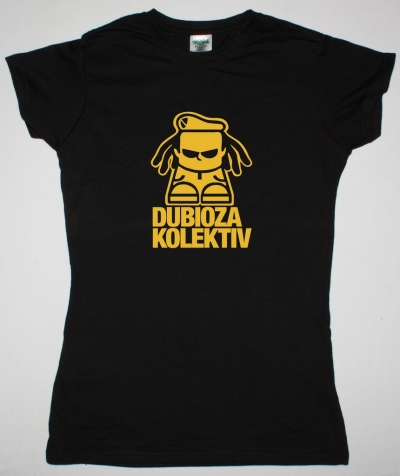 DUBIOZA KOLEKTIV LOGO NEW BLACK LADY T-SHIRT