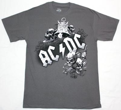 AC DC BELLS AC/DC NEW GREY T-SHIRT