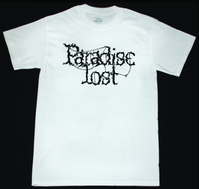 PARADISE LOST CLASSIC LOGO NEW WHITE T-SHIRT