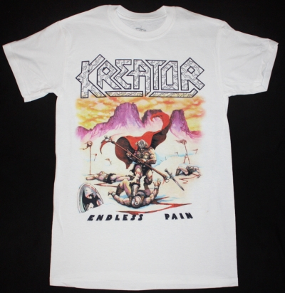 KREATOR ENDLESS PAIN'85  NEW WHITE T-SHIRT