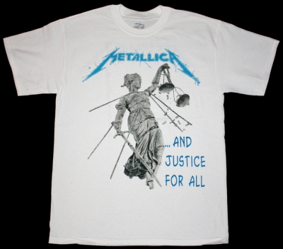 METALLICA AND JUSTICE FOR ALL'88  NEW WHITE T-SHIRT
