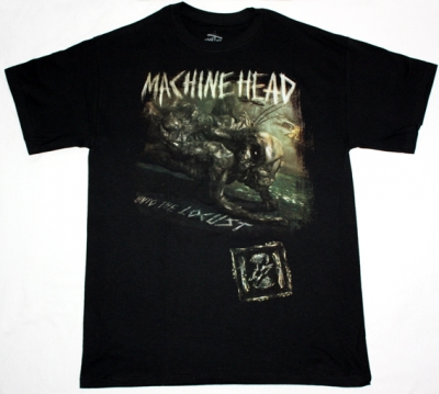 MACHINE HEAD UNTO THE LOCUST NEW BLACK T-SHIRT