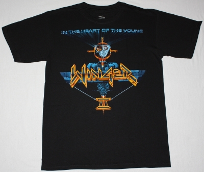 WINGER IN THE HEART OF THE YOUNG NEW BLACK T-SHIRT