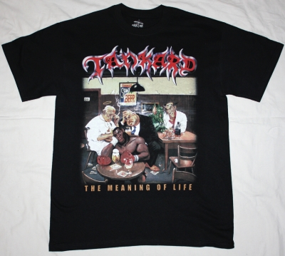 TANKARD THE MEANING OF LIFE '90 NEW BLACK T-SHIRT