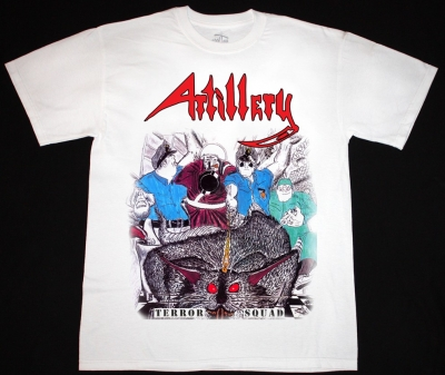ARTILLERY TERROR SQUAD'87 NEW WHITE T-SHIRT