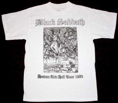 BLACK SABBATH HEAVEN AND HELL TOUR 1980  NEW WHITE T-SHIRT