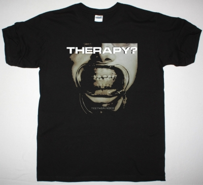 THERAPY TEETHGRINDER NEW BLACK T-SHIRT