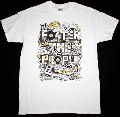 FOSTER THE PEOPLE YOU BETTER RUN NEW WHITE T-SHIRT
