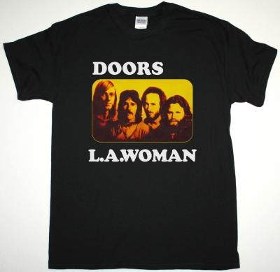 DOORS L.A. WOMAN NEW BLACK T-SHIRT