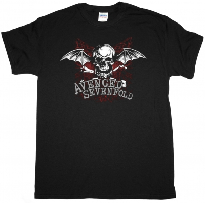 AVENGED SEVENFOLD LOGO NEW BLACK T-SHIRT