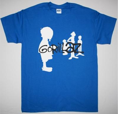 GORILLAZ SILOUHETTE NEW BLUE T SHIRT