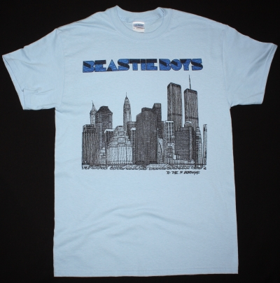 BEASTIE BOYS TO THE 5 BOROUGHS NEW LIGHT BLUE T-SHIRT