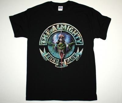 THE ALMIGHTY FREE N EASY 91 NEW BLACK T-SHIRT