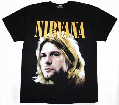 NIRVANA KURT COBAIN NEW BLACK T-SHIRT